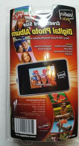 Digital Photo Album Display 100 Photos Wide Screen Wallet Si