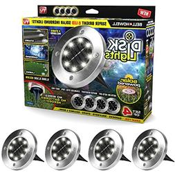 Disk Lights 8-LED Version Solar-Powered Auto On/Off Outdoor