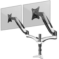Duronic DM652 Gas Powered Double LCD LED Gas Desk Mount Arm