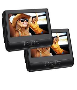 Sylvania 10-Inch Dual Screen Portable DVD Player with USB Ca