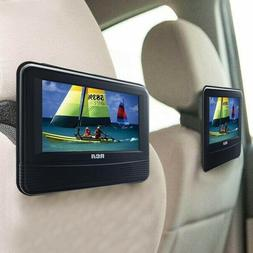 "Dual Screen 7"" Entertainment System Portable DVD PLAYER Car"