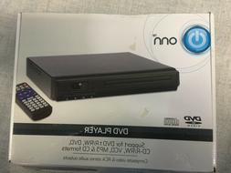 ONN DVD PLAYER WITH REMOTE,RCA CONNECTION CABLES, MODEL# #ON