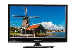 "Sceptre E165BV-SS Slim 16"" 720p LED HDTV HDMI USB VGA, DC 12"