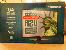 "Element ELEFW408 40"" 1080p 60Hz Direct-Lit LED HDTV NEW-NOT"