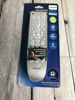 Philips 6 Device Universal Remote, Works with Smart TVs, LG,