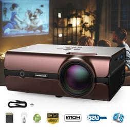 FHD 1080P 4K 3D WiFi Wireless LED Projector Android 6.0 BT T