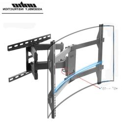 Flat Curved TV Wall Mount Bracket Swivel Tiltting for 32-70