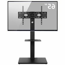 Rfiver Swivel Floor TV Stand with Mount and Two Shelves for
