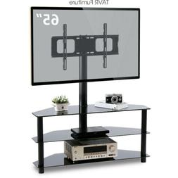 Floor TV Stand with Swivel Mount for 32''-65'' LED LCD Plasm