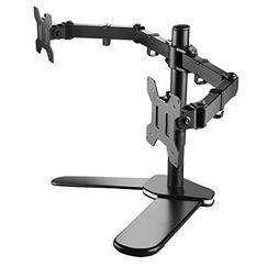 Suptek Fully Adjustable Dual Arm LCD LED Monitor Stand Desk