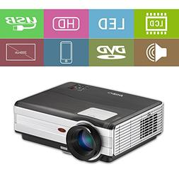 Gaming Movie Projector 3500 Lumen LED HD Dual HDMI 1080P for