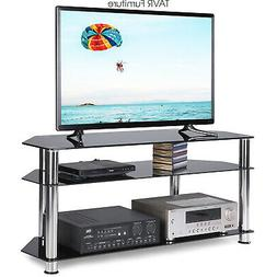 Glass Corner TV Stand for Most 32-55 Inch Plasma LCD LED Fla