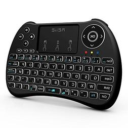 REIIE  H9+ Backlit Wireless AZERTY, Mini Handheld Remote Key