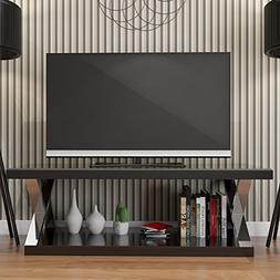 Ryan Rove Hayden Double V Design 60 Inch Modern TV Stand