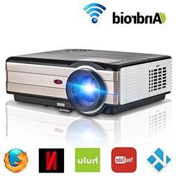 Wifi Wireless Video Projector LED LCD 3500lumen, Full HD 108