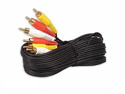 iMBAPrice RCA M/Mx3 Audio/Video Cable Gold Plated - Audio Vi