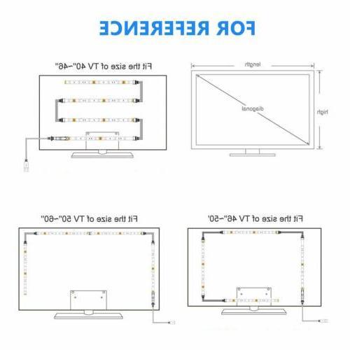 1-4Pcs USB 5050 LED for TV Light