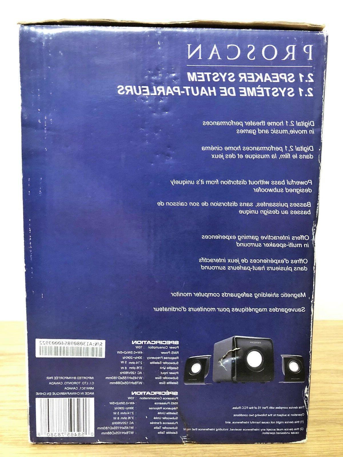 Proscan 2.1 Speaker System #
