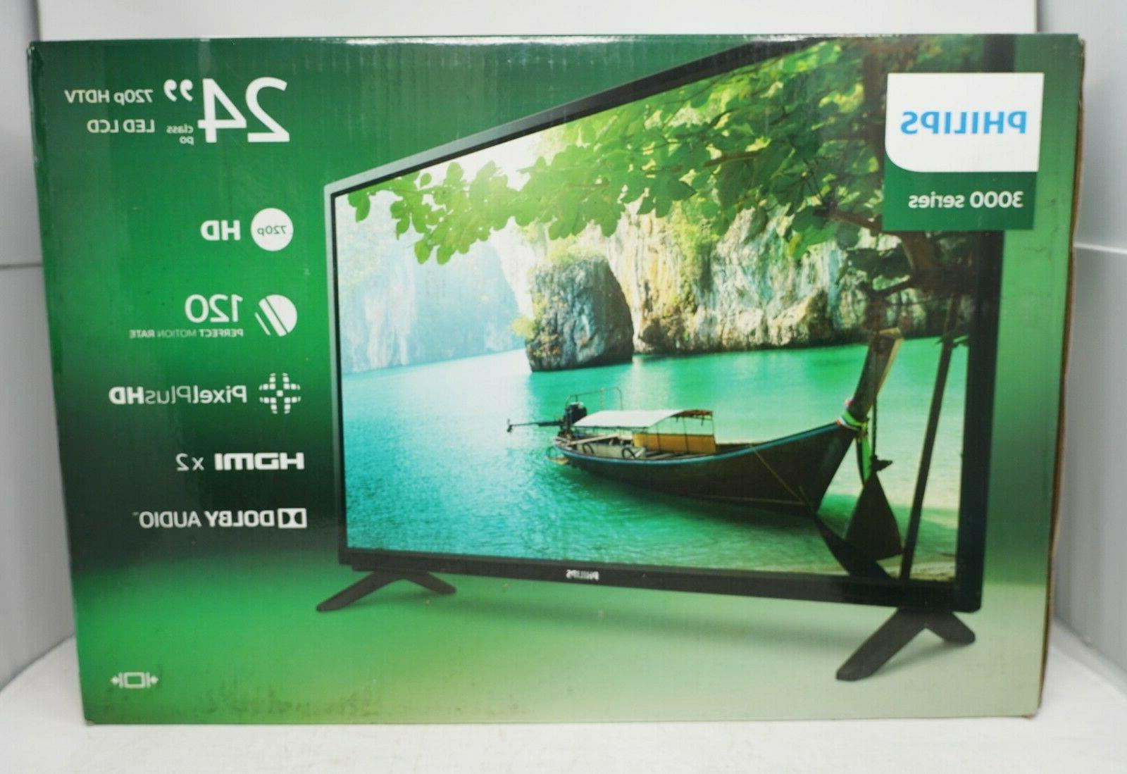 24 in 720p led television black