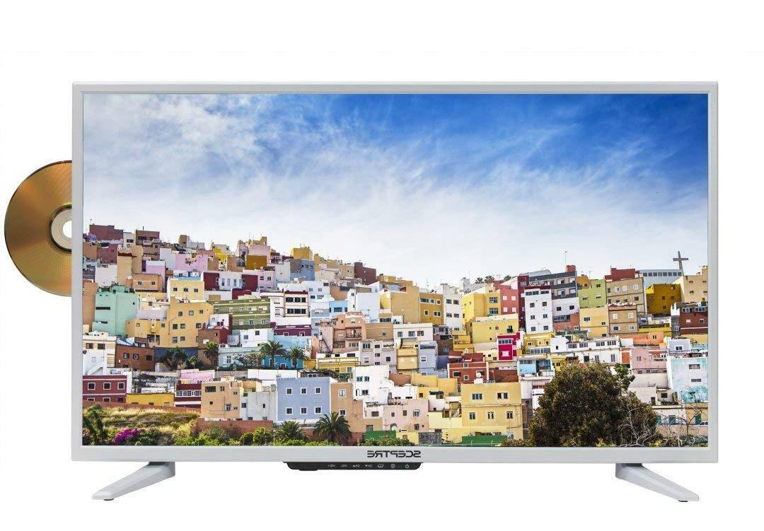"Sceptre 32"" 720p LED TV/DVD 2018, Pure White"