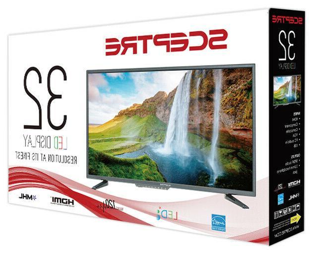 "📺 Television 32"" LED Display HDMI VGA Surround Home Theat"