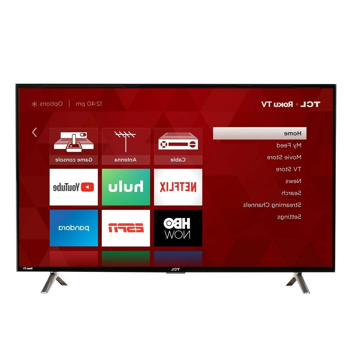 "TCL 40"" 1080p 120Hz CMI Roku Smart LED TV - Black"