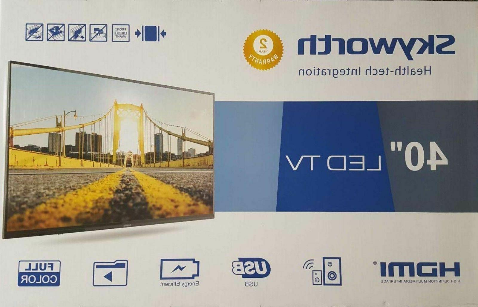 "Skyworth 40"" Class LED TV home entertainment freestanding"