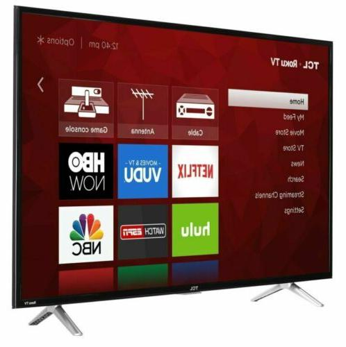 TCL HD Roku Smart TV 3 USB & Built-in WiFi