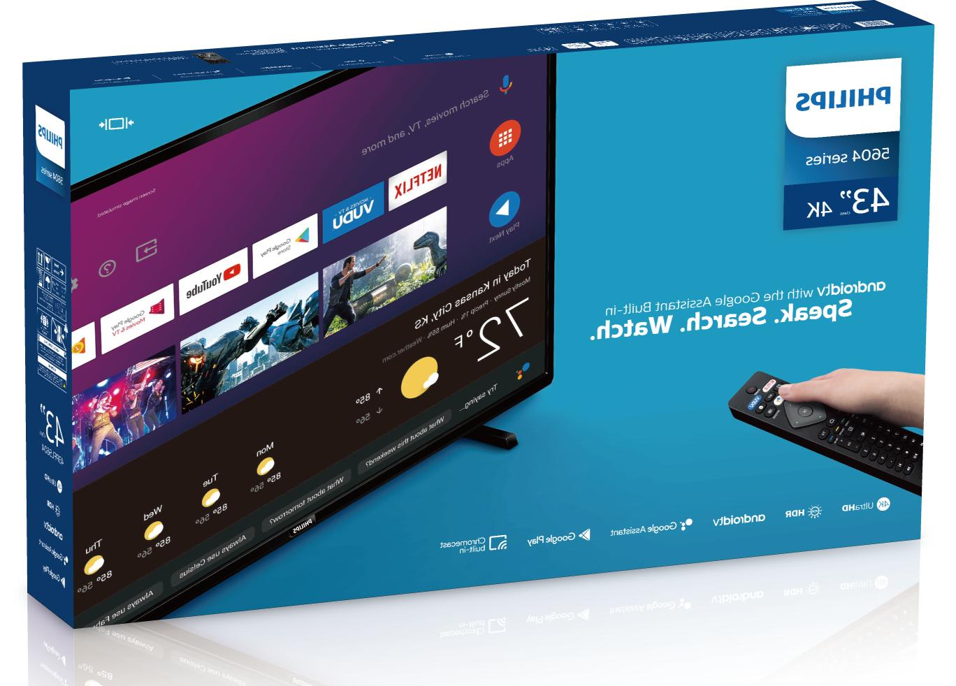 """Philips 43"""" 4K Ultra LED with Assistant"""
