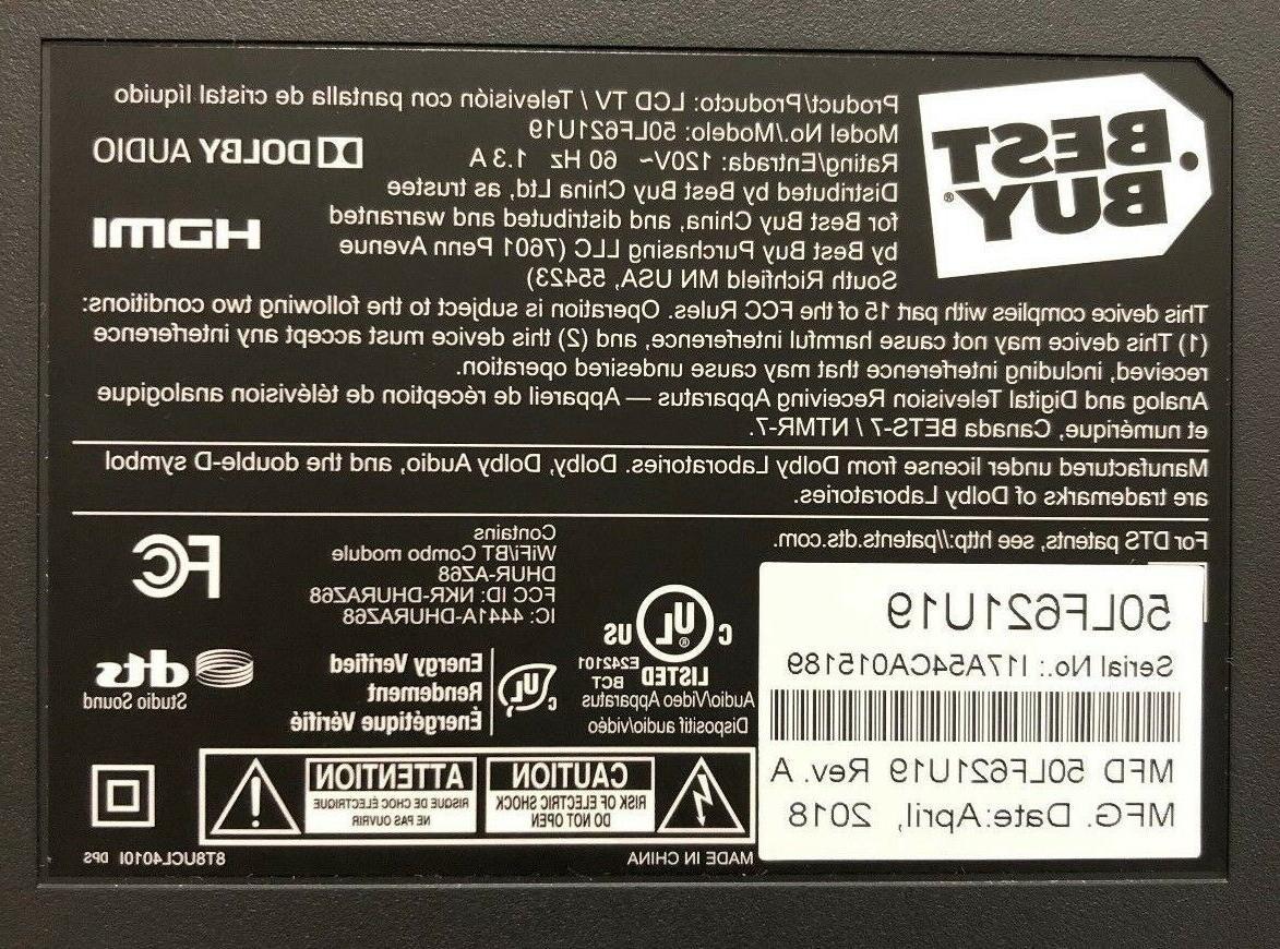 Toshiba 50LF621U19 4K Amazon Fire