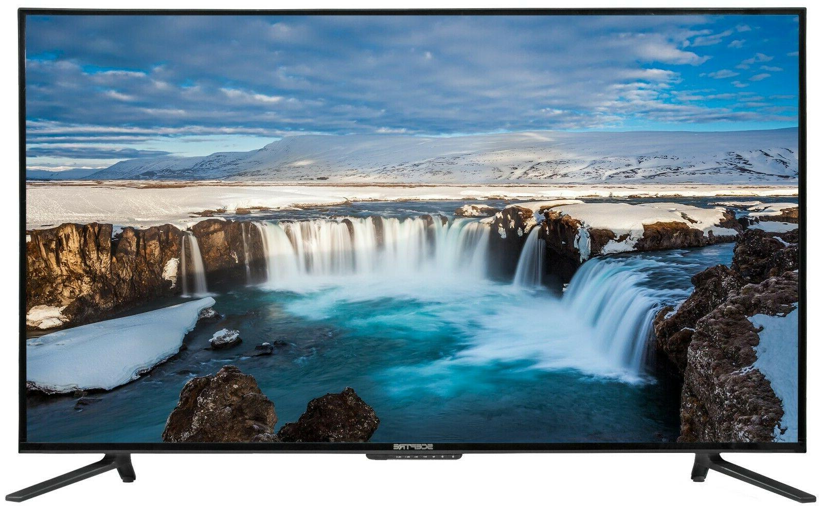 "Sceptre 55"" Class 4K Ultra HD 2160P LED TV Surround Sound 60"
