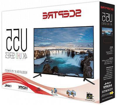 55 Ultra HD TV Sceptre Black Surround HDMI Home Appliances