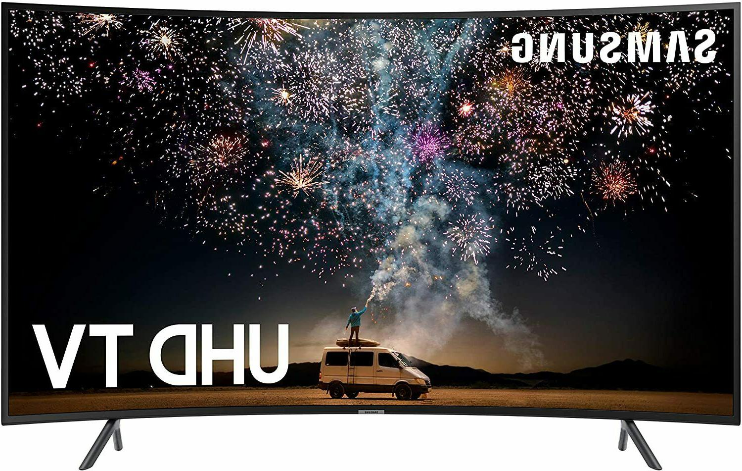 """Samsung Curved Smart TV 65"""" 4K UHD  with HDR and Alexa Compa"""