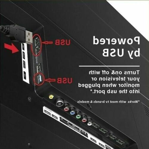 4 LED USB RGB LED Strip Light Remote