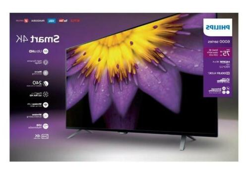 "Philips Series 75"" 4K Smart UHD Internet"