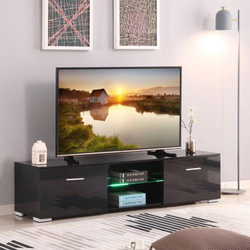63 long black tv stands cabinet led