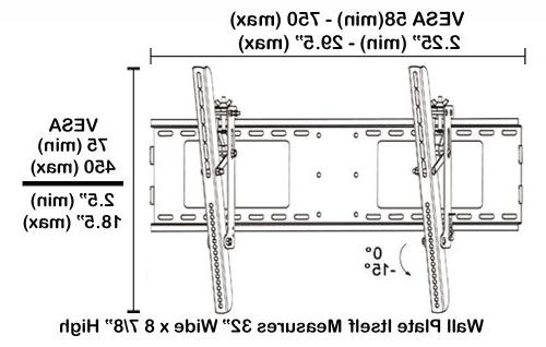 "Black Mount Bracket Sharp AQUOS SMART TV LC-52LE640U 52"" LED TV/Television"
