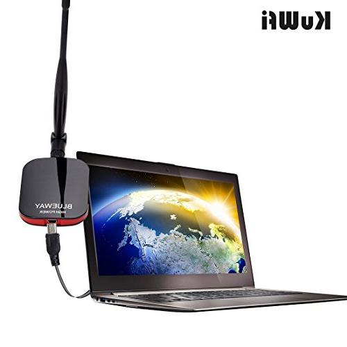 KuWFi WiFi Antenna Blueway N9000 2000mW High Power Wireless