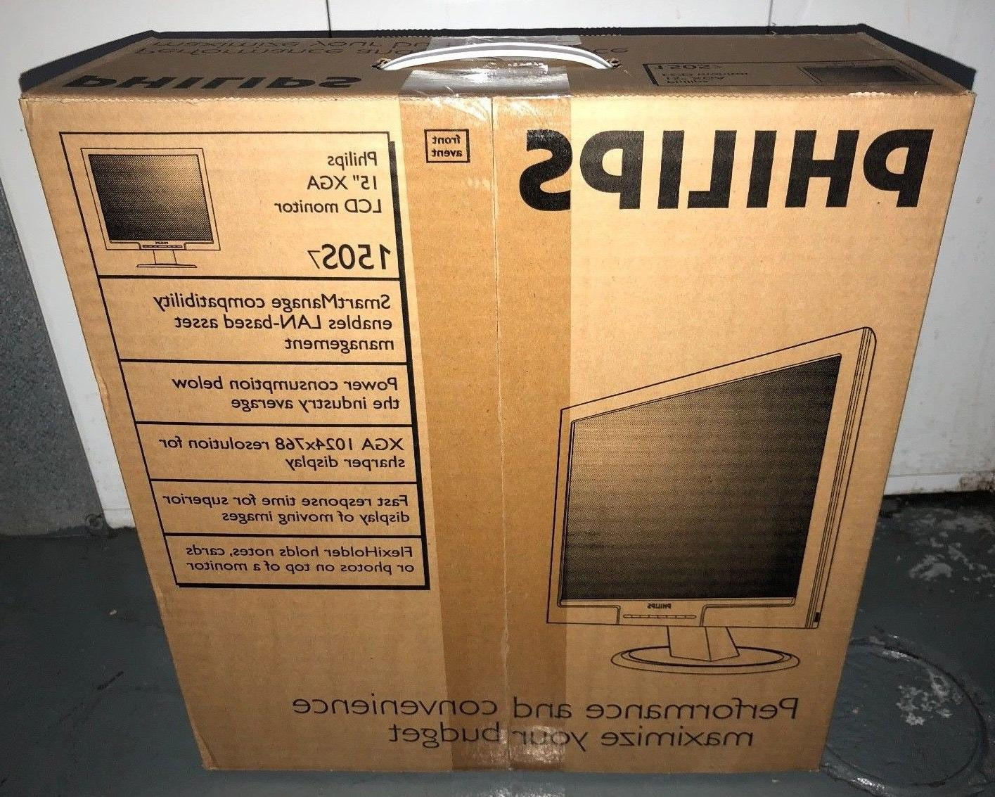 "NEW Philips 15"" LCD Monitor 150s7 150S7FB  XGA VGA 150S7FB/2"