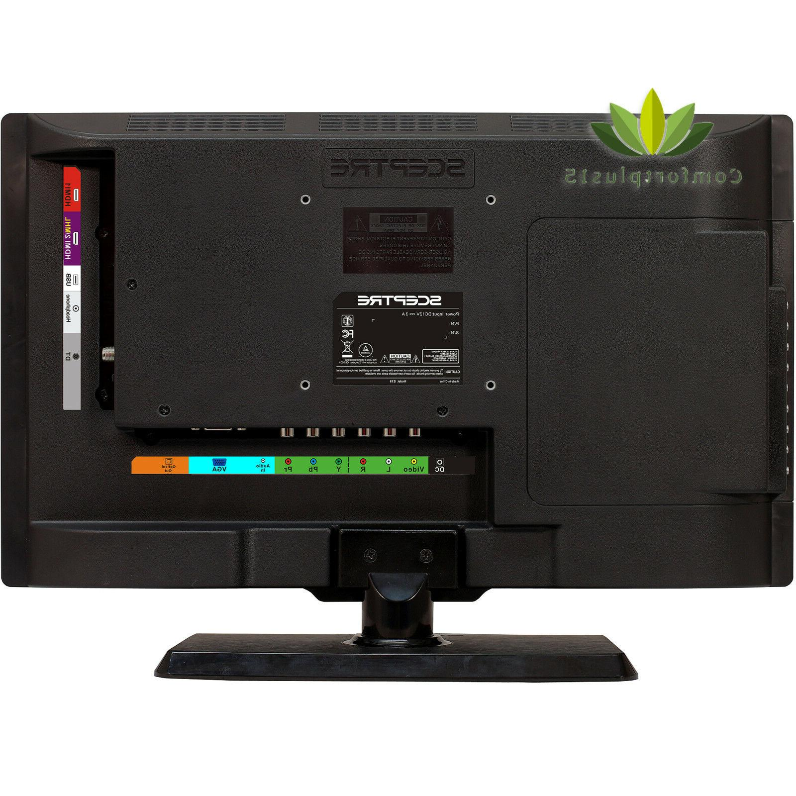 HD, LED 720p, 60Hz Built-in DVD Player