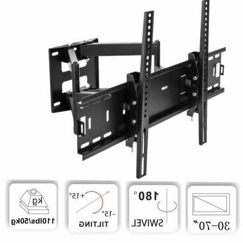 FULL MOTION TILT SWIVEL LCD LED TV WALL MOUNT BRACKET 42 46