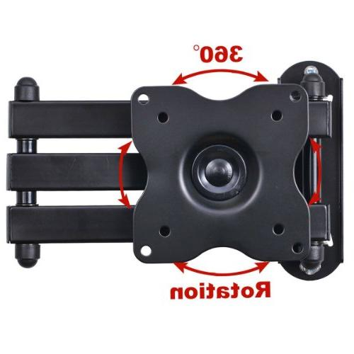 """VideoSecu ML12B Monitor Mount Full Motion inch Extension Arm for 19""""-32"""", some LED Panel Screen with VESA 75x75"""