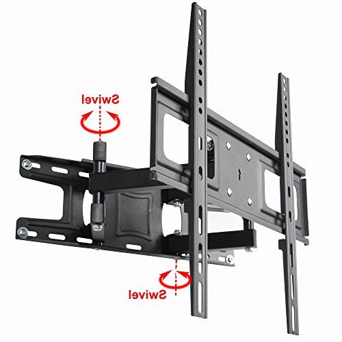 VideoSecu MW340B2 Mount 32-65 Inch LED, OLED Plasma Screen with Motion Tilt Swivel Dual Arms up LBS