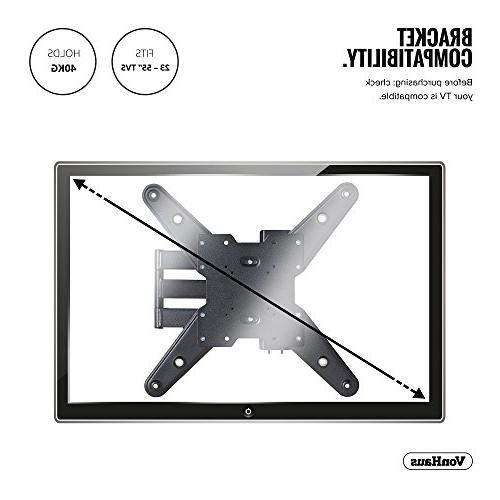 VonHaus Mount Full Most 23-55 inch LED, Plasma and 77lbs lbs Weight Max 400x400 Tilt TV Bracket