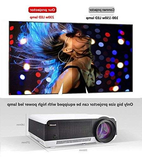 Gzunelic Wifi Video LCD Theater Proyector Phone by Miracast Entertainment