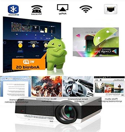 Gzunelic Wifi LCD Theater Proyector Wireless Miracast Home Entertainment