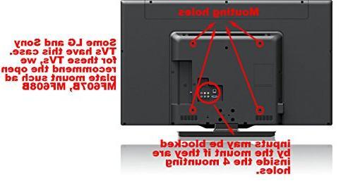 """VideoSecu Adjustable Mount most 26-65"""" LCD Flat with VESA 400x400 400x300 400x200 300x300 300x200 200x200mm MLCE7N"""
