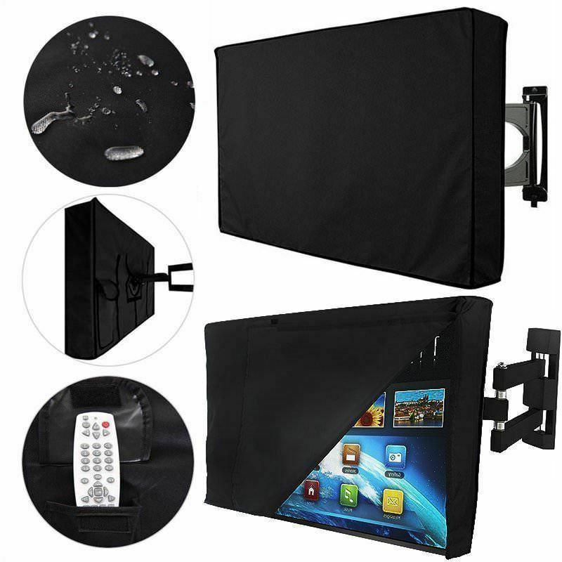 Black 30-58TV Cover Outdoor Weatherproof Protector For All Sizes LED Plasma