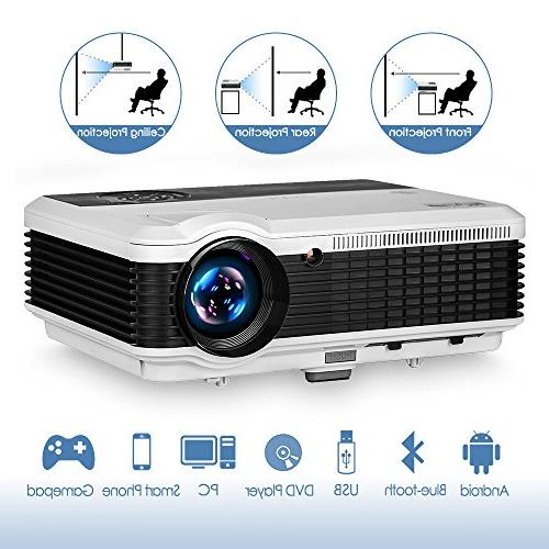 bluetooth projector wireless support hdmi