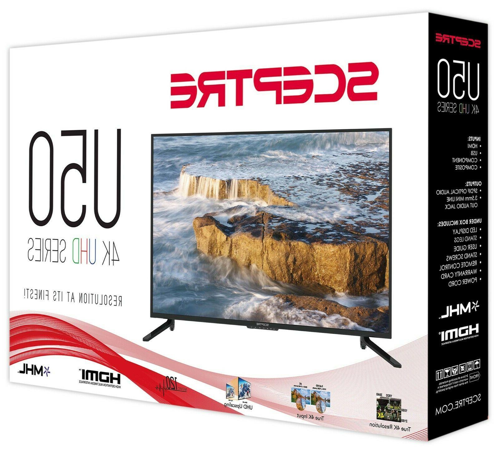 Brand Sceptre 50'' Class 4K TV